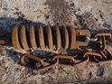 Pružné ukotvení přívozního lana  u Darchau.