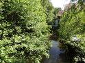 Opatovický kanál je v dolní části obce Čeperka dosti sevřen bujnými pobřežními porosty.