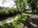 Opatovický kanál v obci Opatovice nad Labem