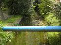 Potrubní  most přes Opatovický kanál v obci Semín.